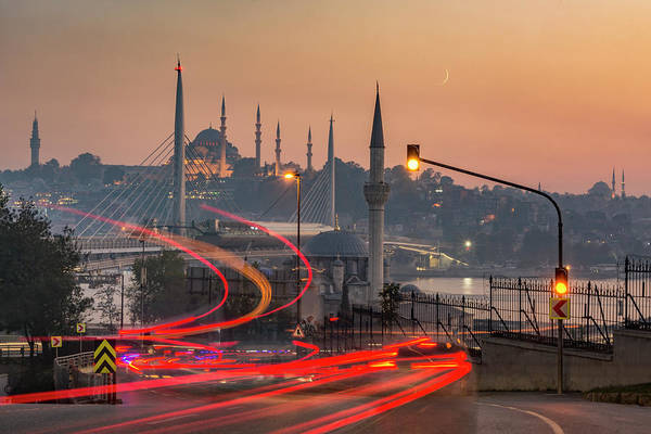 Wall Art - Photograph - Istanbul At Sunset by Ayhan Altun