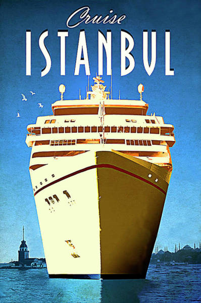 Istanbul Painting - Istanbul Cruise, Turkey by Long Shot