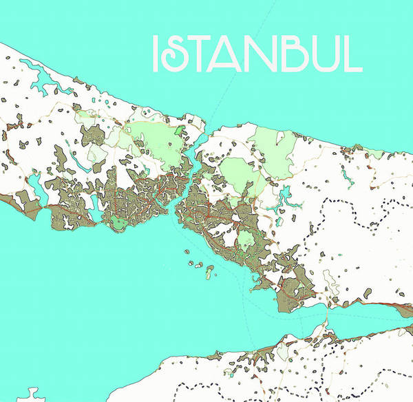 Painting - Istanbul Map by Celestial Images