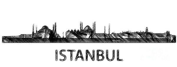 Digital Art - Istanbul Silouhette Sketch  by Rafael Salazar