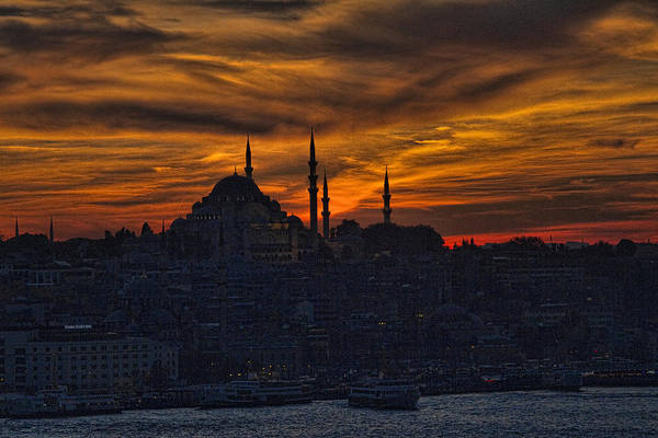 Port Orange Photograph - Istanbul Sunset - A Call To Prayer by David Smith