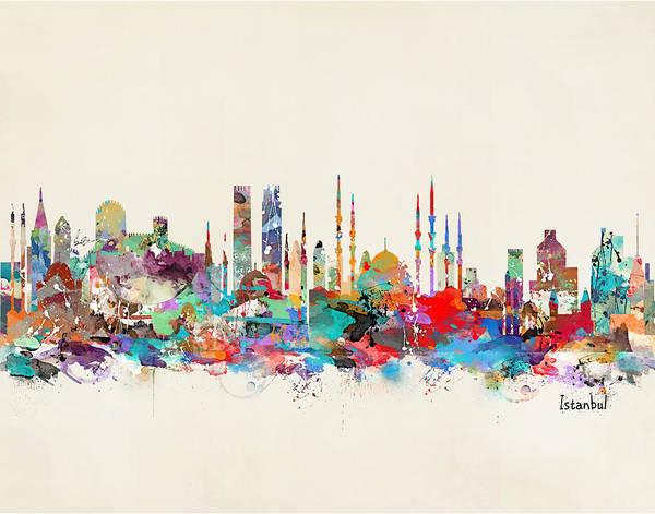 Istanbul Painting - Istanbul Turkey  by Bri Buckley
