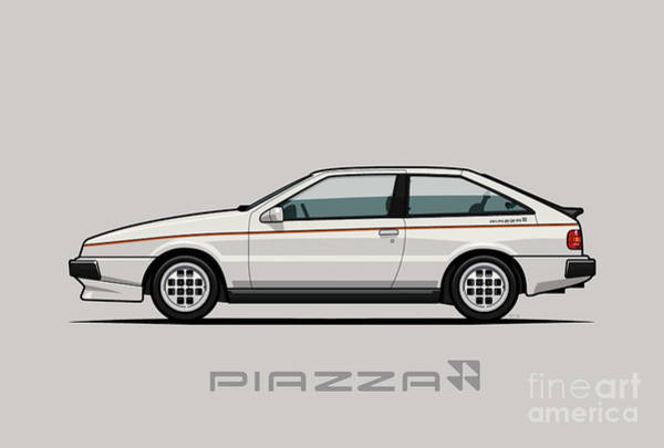Wall Art - Digital Art - Isuzu Piazza/impulse Xe White by Monkey Crisis On Mars