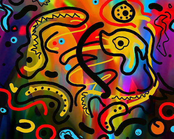 Gestural Digital Art - It Doesn't Surprise Me by Lynda Lehmann