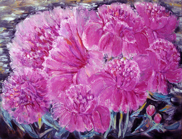 Master Piece Painting - It Is All About Peonies by Katreen Queen