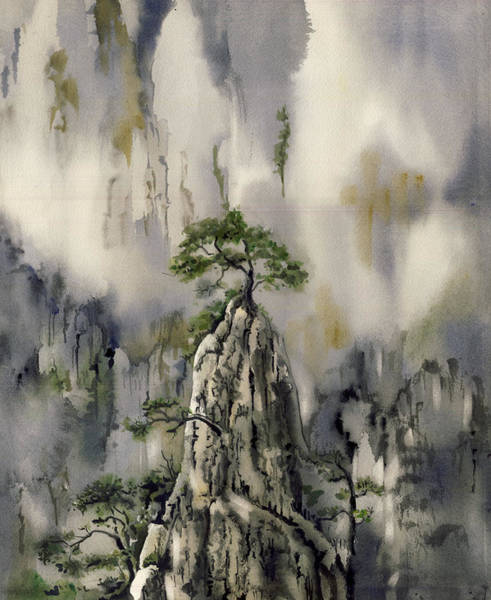 Painting - It Stands Alone by Alfred Ng