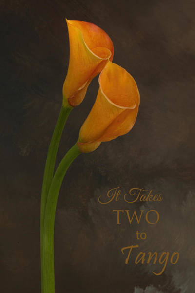 It Takes Two To Tango With Message Art Print