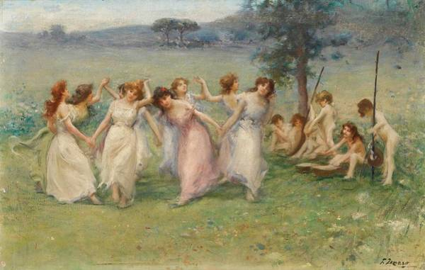Fausto Zonaro Painting - Italian Allegory Of Spring by MotionAge Designs