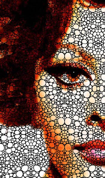Italian Actress Wall Art - Painting - Italian Beauty Sophia Loren Tribute  by Sharon Cummings