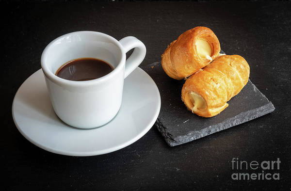Photograph - Italian Breakfast. Cannoncini And Espresso by Marina Usmanskaya