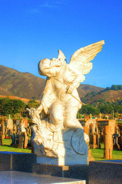 Mono No Aware Photograph - Italian Cemetery Colma 2 by Deborah Smolinske