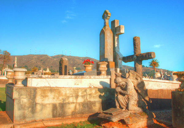 Mono No Aware Photograph - Italian Cemetery Colma 3 by Deborah Smolinske