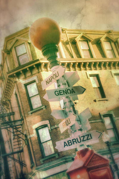 Photograph - Italian City Signs - Boston North End by Joann Vitali