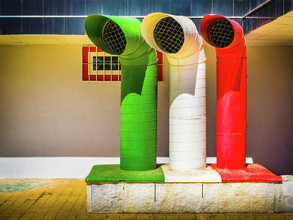 Photograph - Italian Flag Colours by Gary Gillette