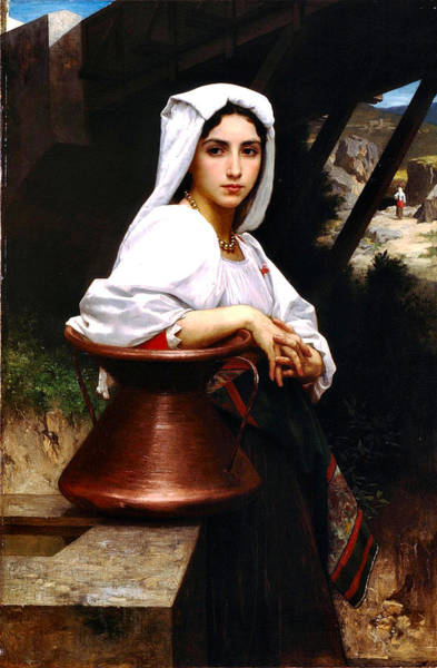 Painting - Italian Girl Drawing Water 1871 by William Bougeureau