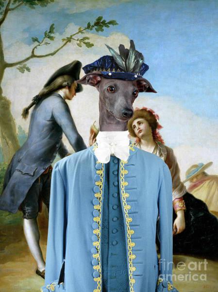 Wall Art - Painting - Italian Greyhound Art Canvas Print - The Gift by Sandra Sij