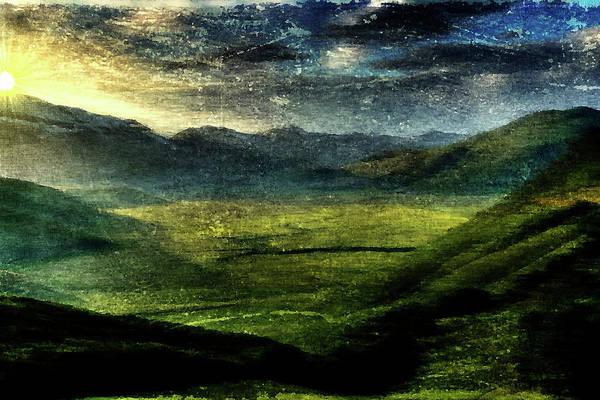 Mounted Digital Art - Italian Hills by Andrea Barbieri