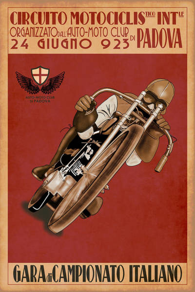 Wall Art - Photograph - Italian Motorcycle Championship Race by Mark Rogan