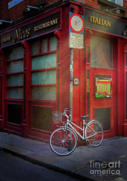 Photograph - Italian Restaurant Bicycle by Craig J Satterlee