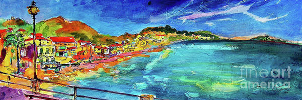 Painting - Italian Riviera Coastline Ocean View by Ginette Callaway