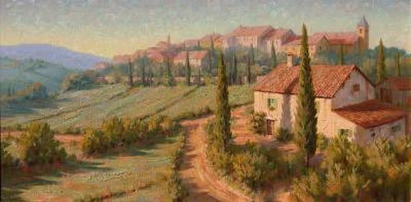Wall Art - Painting - Italian Roses - Italy by Roger Williams