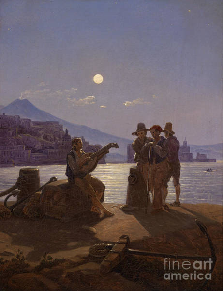 Fausto Zonaro Painting - Italian Seascape by MotionAge Designs