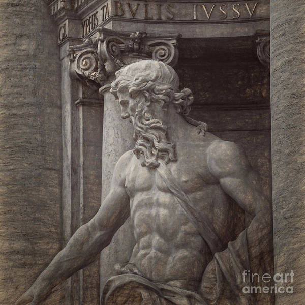 Charcoal Drawing Photograph - Italian Statue by HD Connelly