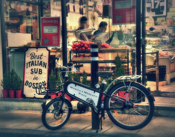Photograph - Italian Sub Shop - Monica's Mercato - Boston North End by Joann Vitali