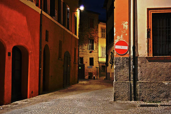 Suggestion Photograph - Italian Town At Night by Tinto Designs