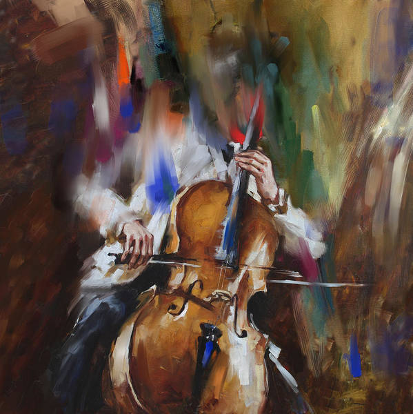 Violas Painting - Italian Violin Player 173 1  by Mawra Tahreem