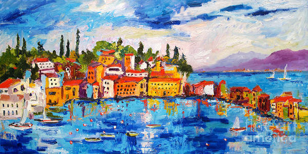 Painting - Italy Seaside Village Sestri Levante by Ginette Callaway