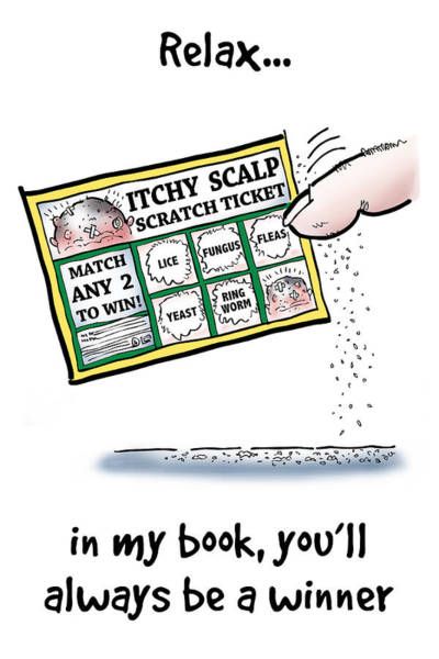 Digital Art - Itchy Scalp Scratch Ticket by Mark Armstrong