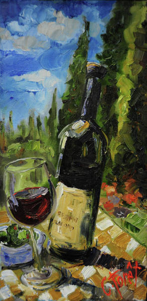 Wall Art - Painting - Itialian Picnic by Carole Foret
