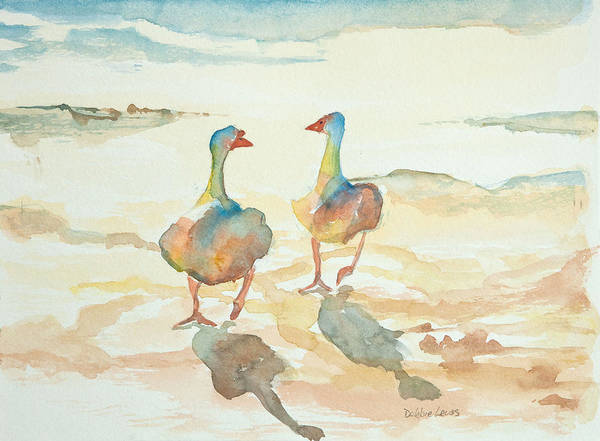 Painting - It's A Ducky Day by Debbie Lewis