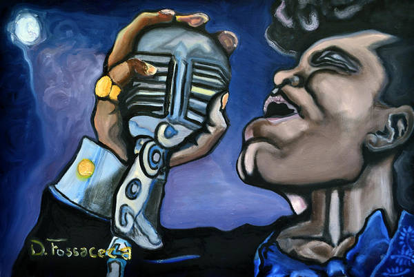 Jazz-funk Painting - It's A Mans World- James Brown by David Fossaceca