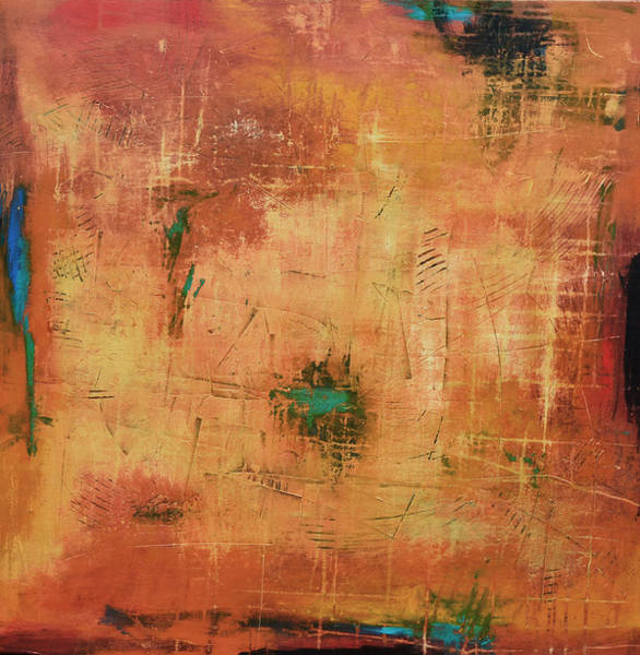 Oxidation Painting - It's A Matter Of Time by Filomena Booth