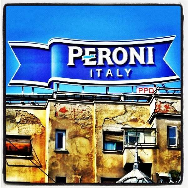 Beer Wall Art - Photograph - It's A Sign From Above🍺 #peroni by Richard Randall