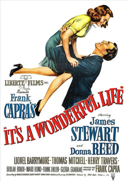 Wall Art - Painting - It's A Wonderful Life, Comedy Drama, Vintage Movie Poster by Long Shot