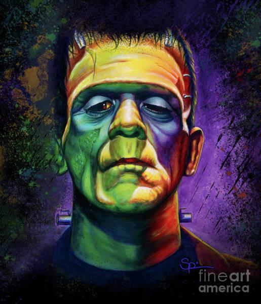 Frankenstein Painting - It's Alive  by Scott Spillman