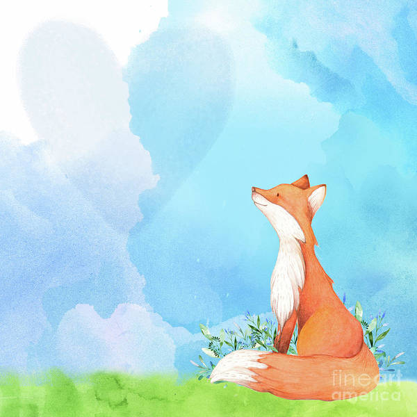 Wall Art - Painting - It's All Love Fox Love by Tina Lavoie