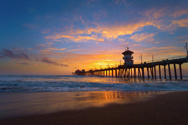 Huntington Beach Pier Photograph - It's All Worth Waiting For by Brian Knott Photography