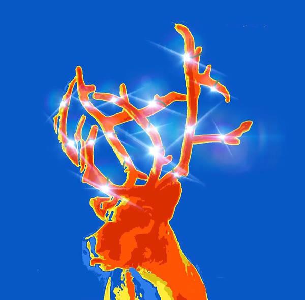 Yule Digital Art - It's Christmas In Blue by Sara Sutton