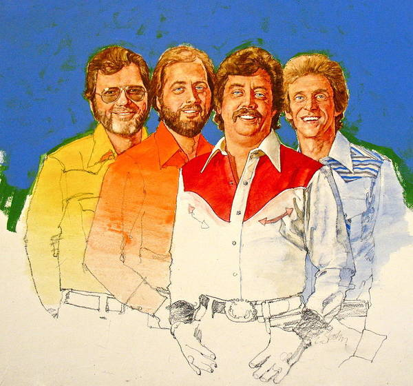 Painting - Its Country 2 - Statler Brothers by Cliff Spohn