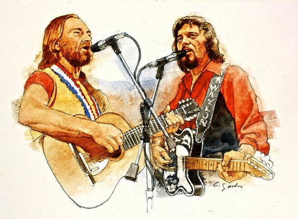 Its Country - 7  Waylon Jennings Willie Nelson Art Print