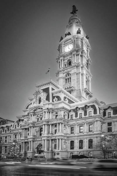 Photograph - It's Five O'clock In Philly Bw by Susan Candelario