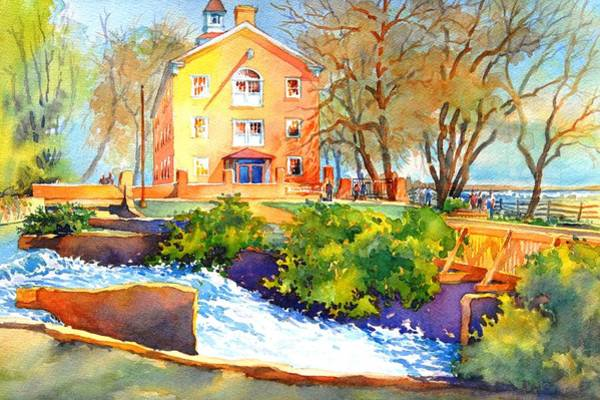 Wilmington Delaware Wall Art - Painting - It's Gone When It Passes Here by Virgil Carter