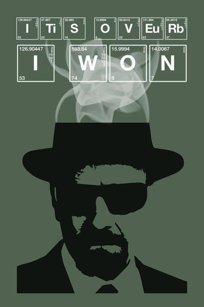 Bryan Painting - It's Over I Won - Breaking Bad Poster Walter White Quote by Beautify My Walls