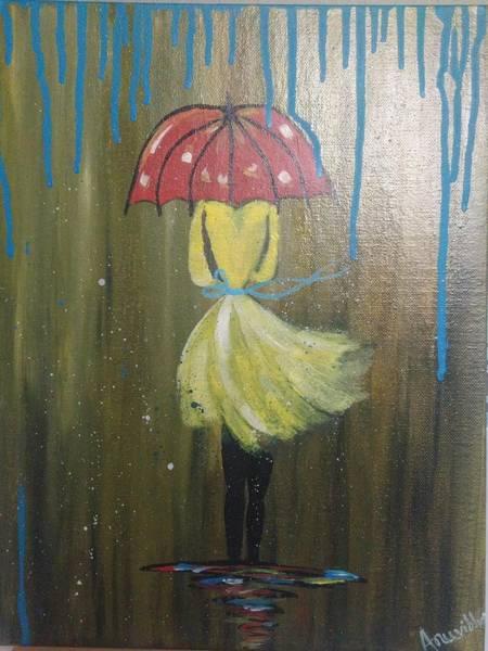 Wall Art - Painting - It's Raining by Anuradha Kumari