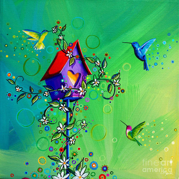 Birdhouse Painting - It's The Little Things by Cindy Thornton