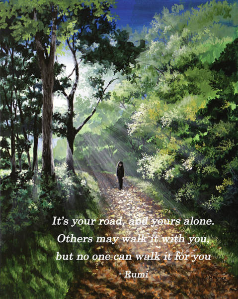 Painting - It's Your Road by Mary Palmer